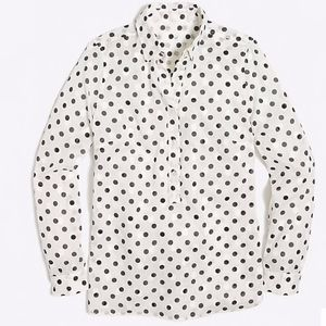 JCREW Jacquard dot popover shirt